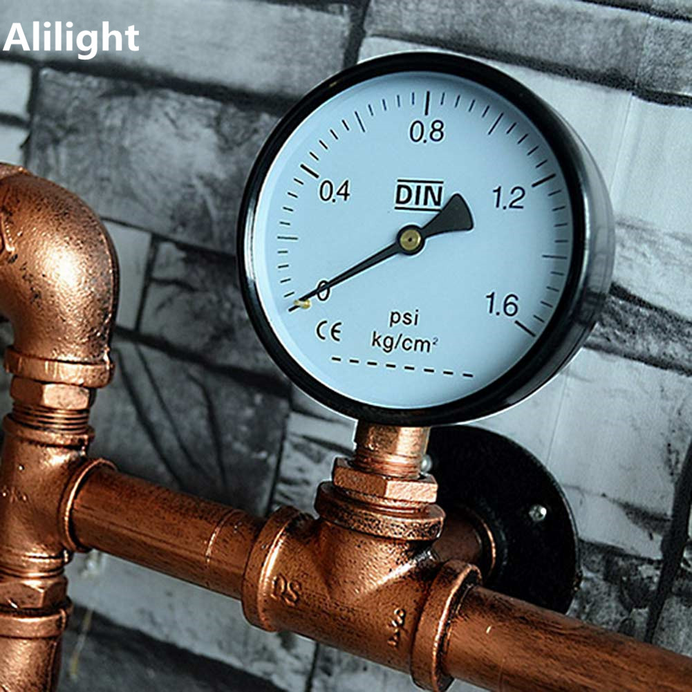 Retro Loft Industrial Vintage Iron Water Pipe Wall Lamp Fixtures ...