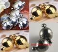 OMH оптовая продажа Бесплатная доставка 6 мм и 8 мм на выбор 10 комплектов серебряный & Золотой & черный круглый шар магнитные застежки Подвески OMH34 - фото