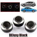 3PC/LOT FIT FOR MAZDA 3 BL 2009-2013 AXELA SWITCH KNOB KNOBS HEATER HEAT CLIMATE CONTROL BUTTONS DIALS FRAME RING A/C AIR CON