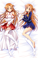Japan Anime SAO Sword Art Online Asuna Pillow Case Cover Hugging Body 510096