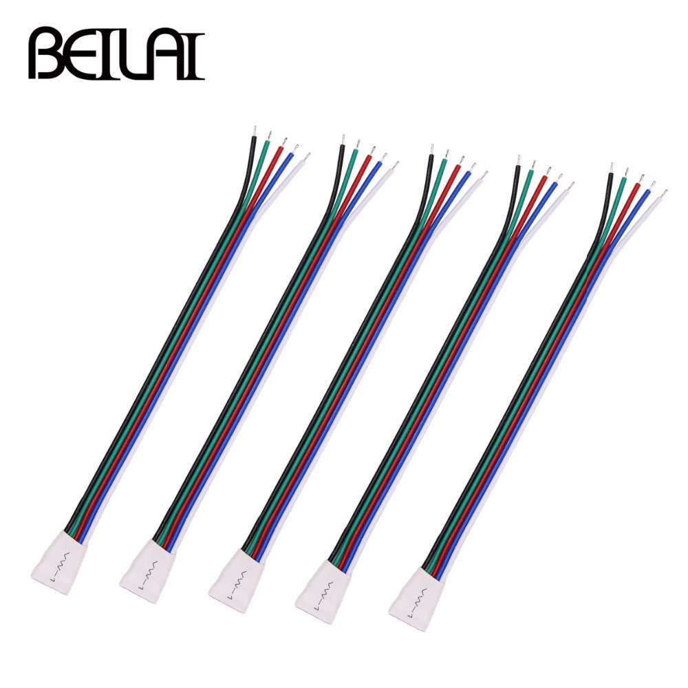 5pins RGBW LED Strip Connector For SMD 5050 RGBW RGBWW LED Strip 5pcs/lot 5pcs lot 10mm 5pin rgbw l type x type t shape no soldering connector for 5050 rgbw rgbww led strip 5pin rgbw connector
