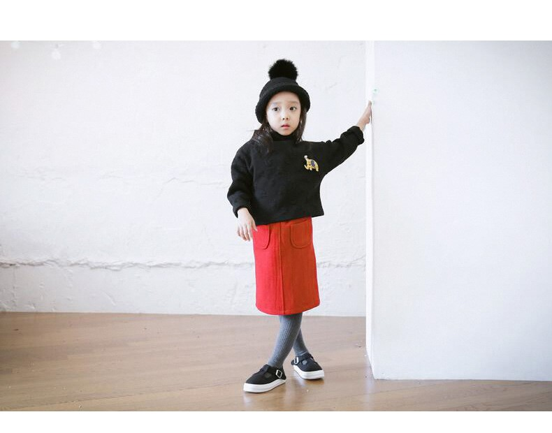 casual solid button kids skirts for girls cotton skirt clothes little big girls long skirts children clothing 2017 spring summer kids skirts clothes (12)