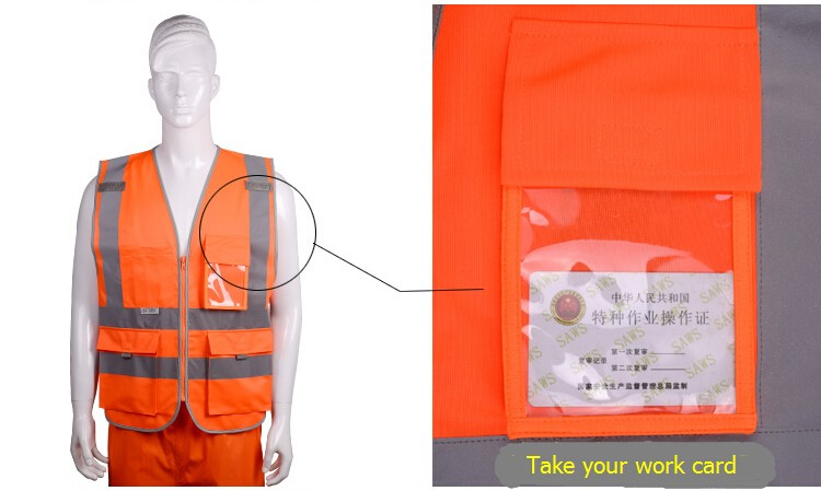 2018 Sale New Vest Material Visibility Security Safety Vest Jacket Reflective Strips Work Wear Uniforms Clothing 18
