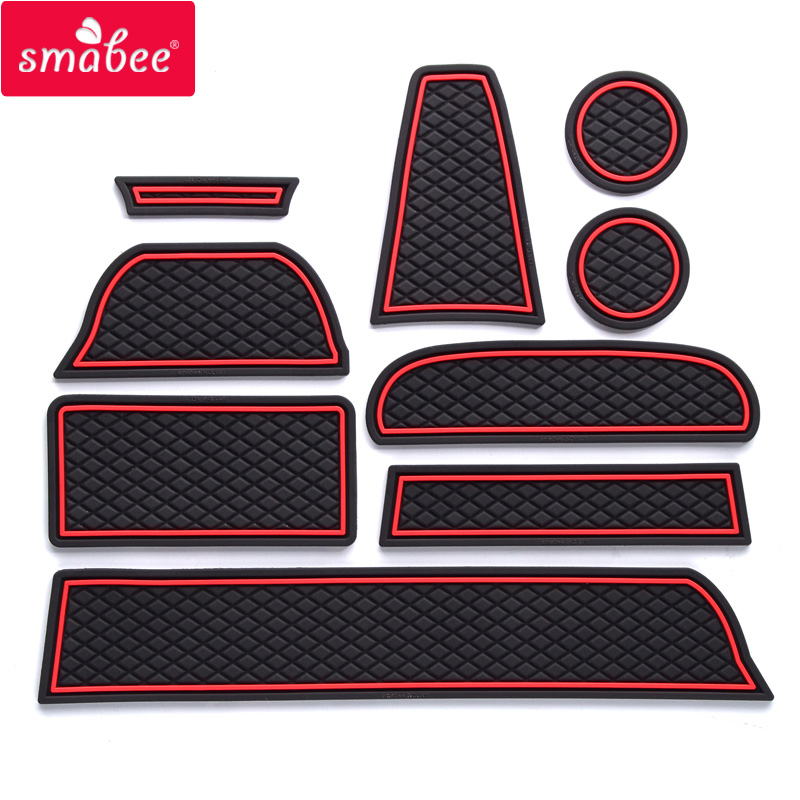 Gate slot pad For Lada GRANTA Non slip Door groove mat mats Auto Accessories Red Blue