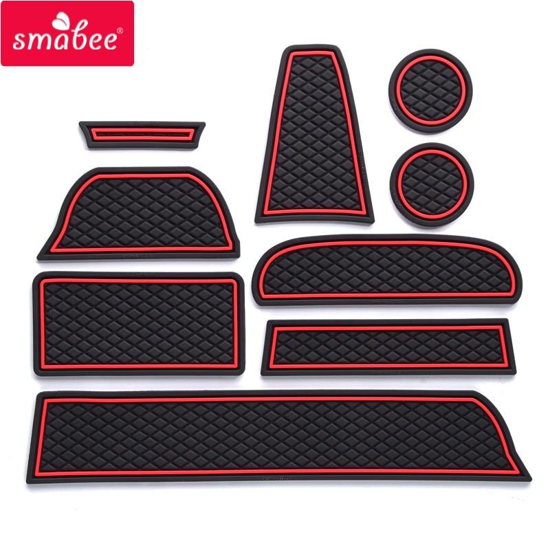 Prix pour Porte fente pad Pour Lada GRANTA Non-slip Porte groove mat tapis Auto Accessoires Rouge/Bleu/lumineux 9 PCS