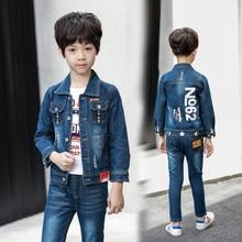 Autumn Spring boys Denim Clothing Set Casual Kids Jeans Jacket+Jeans 2pcs Children Clothes Boys Suit