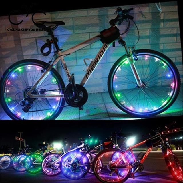 eyci fiets led verlichting fiets strip veiligheid night knipperende voor fietsen spoke wiel lamp