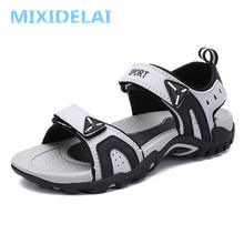 Модные мужские пляжные сандалии; коллекция года; летние мужские уличные сандалии-гладиаторы; мужская повседневная обувь в римском стиле; вьетнамки; тапочки на плоской подошве; большой размер 46
