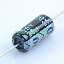 10 ピース 6.3*13 ミリメートル 25 ボルト 25 uf アキシャル電解コンデンサオーディオギター真空管アンプ Diy