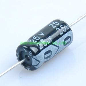 Image 1 - 10 ピース 6.3*13 ミリメートル 25 ボルト 25 uf アキシャル電解コンデンサオーディオギター真空管アンプ Diy