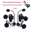 2 unids motocicleta moto comunicación interfono bluetooth casco intercomunicador intercomunicador del casco de auriculares con fm función bt-s2
