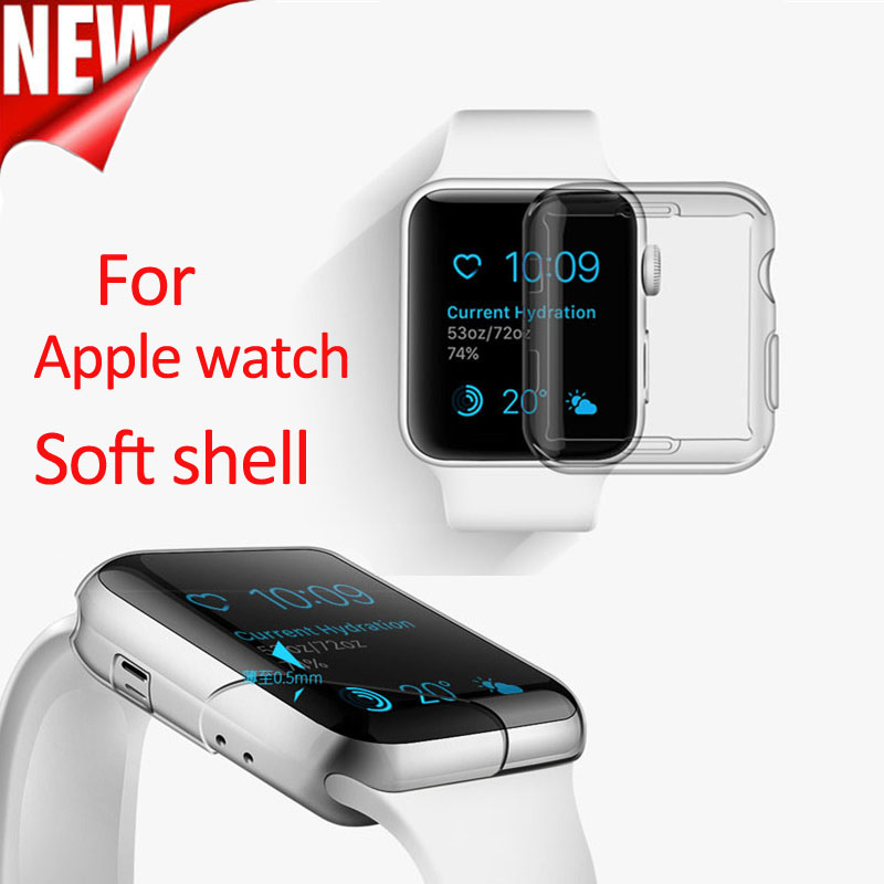 Transparent Cover for Apple Watch Case 38mm 42mm Plastic Soft Cover for Apple Watch Series 3 2 1 TPU Soft and Slim Protect Cover baseus shield case tpu cover for iphone7 gray