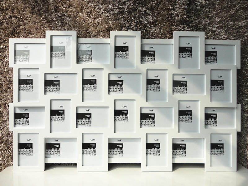 white wall photo frame collection multi frames 4x6 inch x28pcs