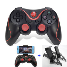Terios T3  Bluetooth Gamepad For Android Smart Phone TV Box Joystick Wireless Joypad Game Pad Controller W/ Mobile Holder Stand