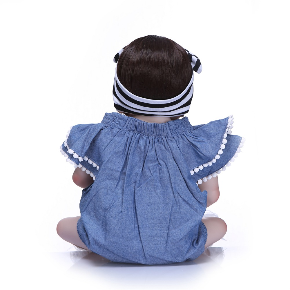 Image 5 - NPK 57cm Full Silicone Body Reborn Baby Doll Realistic Handmade Vinyl Adorable Lifelike Toddler Bebe Truly Kids Playmates Toys-in Dolls from Toys & Hobbies