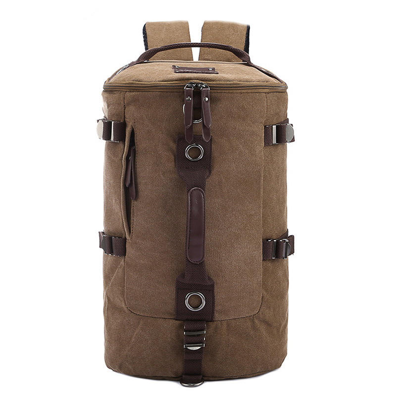 Just Follow 2017 new fashion men canvas bucket shoulder bag backpack mountaineering backpack man travel bag men bags блокнот all you need is flowers а5