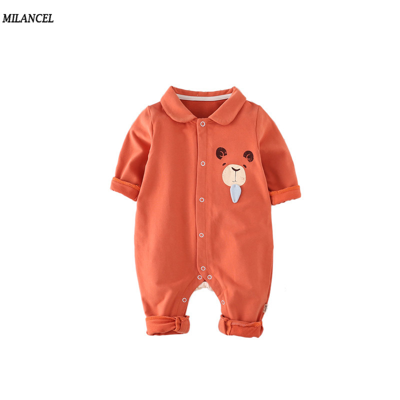 Milancel 2017 Baby Boys Clothes Bear Style Baby Rompers Cotton Girls Jumpsuits Cartoon Baby Boys Girls Rompers vestido infantil cotton baby rompers set newborn clothes baby clothing boys girls cartoon jumpsuits long sleeve overalls coveralls autumn winter