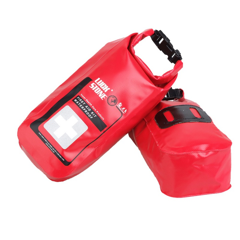 Outdoor Camping Waterproof First Aid Bag Emergency Kits Empty Travel Dry Rafting Kayaking Portable Medical Bag 2L
