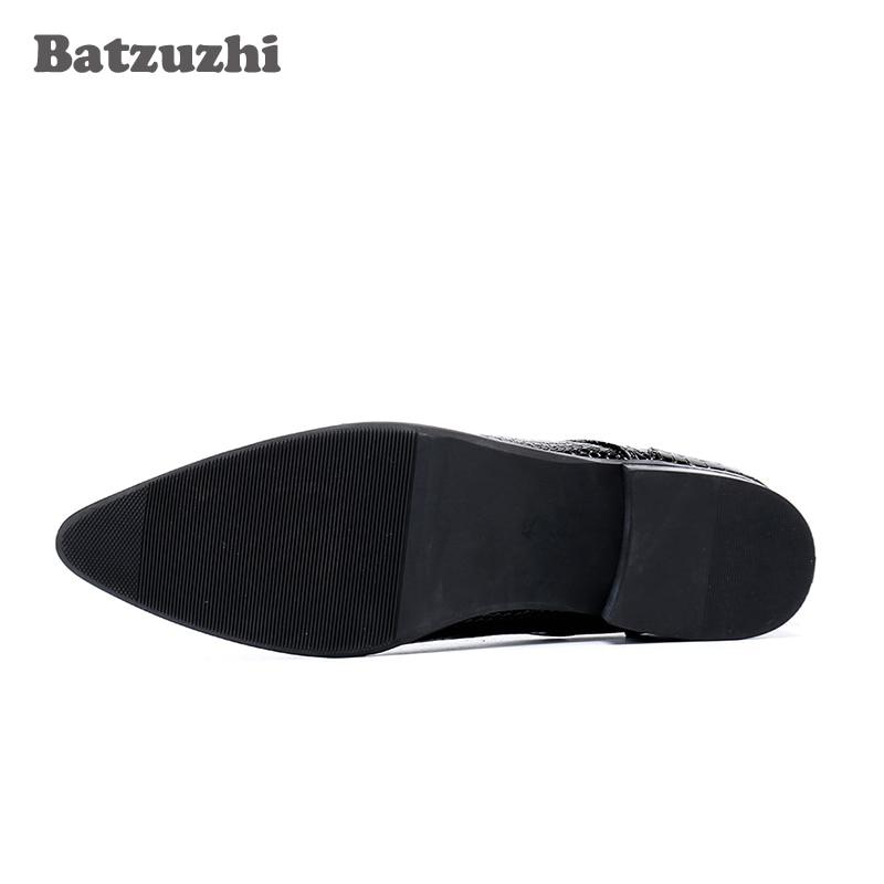 Taille Pointu Hombre Coréenne Noir Mode Batzuzhi Type Bottes Bottines Lacets D'affairesPartiePluz À Robe Hommes Bout Botas nwkZ80PXNO