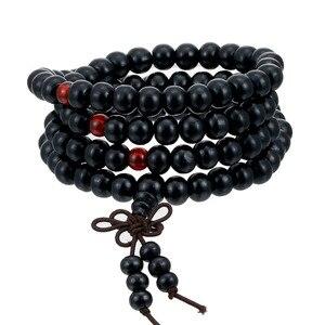 Image 2 - 1Pcs 8 Mm Natuurlijke Sandelhout Boeddhistische Boeddha Meditatie Hout Gebed Kralen Mala Armband Armbanden Vrouwen Mannen Sieraden 108 Kralen bijoux
