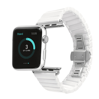 Space Ceramic Watch Band For Apple Watch Band Strap Link Bracelet 38mm 42mm Black White With