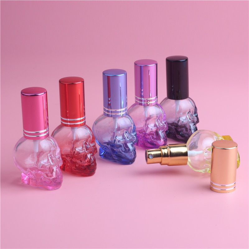 8ml Skull Candy Design Perfume Bottle Mini Portable Travel Refillable Parfyme Atomizer Flaske For Spray Duft Pumpe Case Tomt