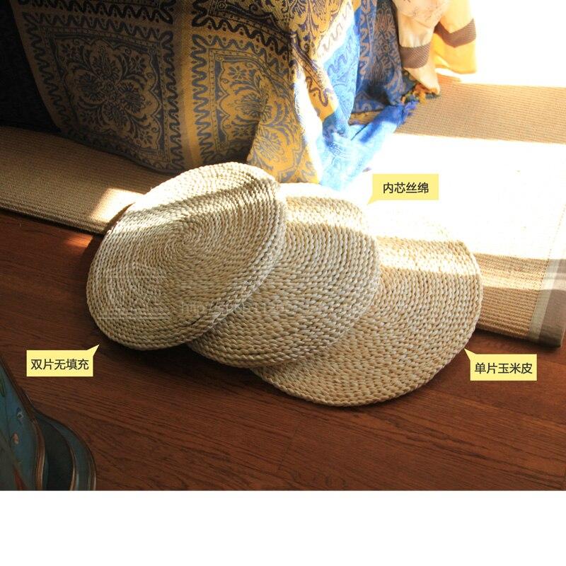 Natural Fresh Straw Cushion And Thickened Mat Meditating