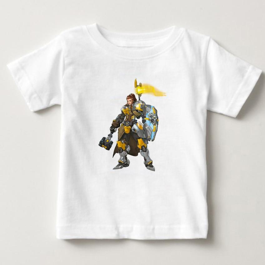 2018 New t shirt for boy gamer t shirt hot pc game watch over character GENJI flow like water new pattern t shirt kids shirt