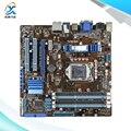 Для Asus P7H55-M PRO Original Used Desktop Материнских Плат Для Intel H55 Гнездо LGA 1156 Для i3 i5 i7 DDR3 16 Г HDMI DVI VGA На продажа