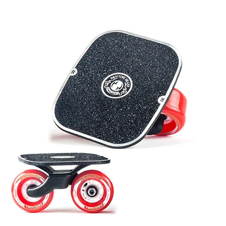 Dérive Board classique en alliage d'aluminium pour Freeline Roller route dérive patins antidérapant Skateboard Deck Freeline Skate Wakeboard K004