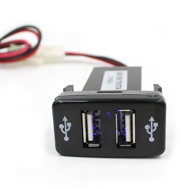 87028f28700 2019 12V 5V 1.2A Dual USB 2 Ports Dashboard Mount Cargador USB Battery  Charger Charging For Mobile Phone Carregador De Carro