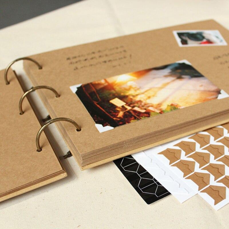 A4 ring binder Photo Album Kraft scrapbook Wedding Album Scrapbook Wedding Guest Book table