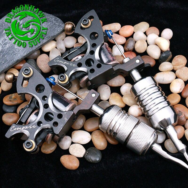 2pcs profesjonelle tatoveringspistoler kompass tattoo maskin liner og - Tatovering og kroppskunst - Bilde 4
