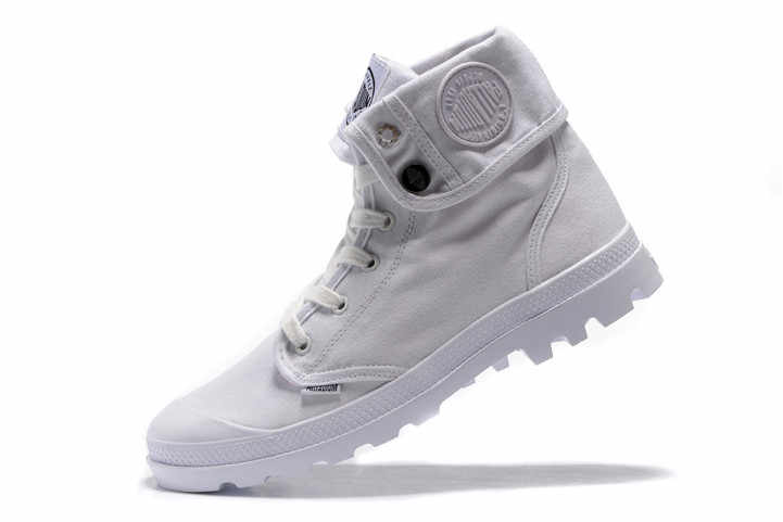 8f31d882d ... PALLADIUM Pallabrouse All White Men High-top Military Ankle Boots  Canvas Casual Shoes Men Casual ...