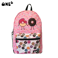 ONE2 Cute Backpack For Girls With Donut Design Rusksack