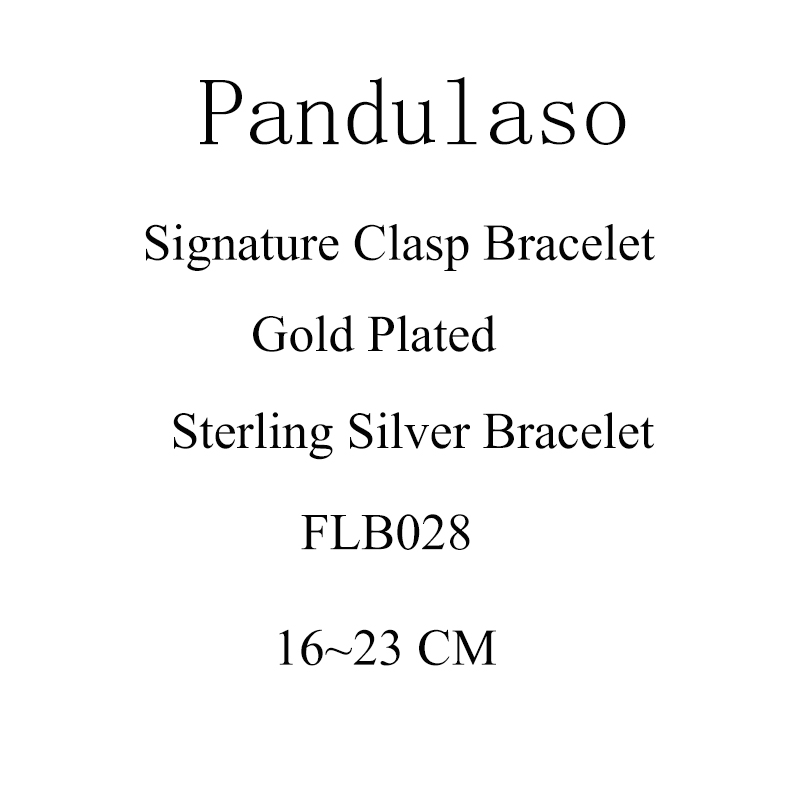 Pandulaso Signature Clasp Bracelet 925 Sterling Silver Jewelry Bracelets Fit Original Charms & Beads For Woman DIY Jewelry pandulaso pure 925 sterling silver jewelry findings sparking safety with logo beads fits charms bracelet women diy jewelry