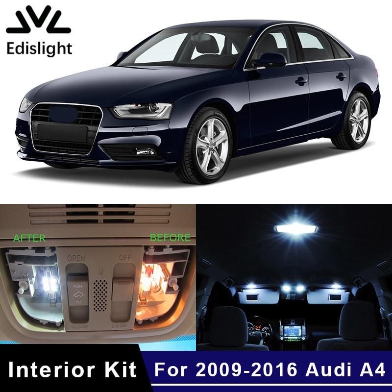 AUDI A4 B8 AVANT FULL INTERIOR LED UPGRADE SET CANBUS ERROR FREE WHITE BLUE RED