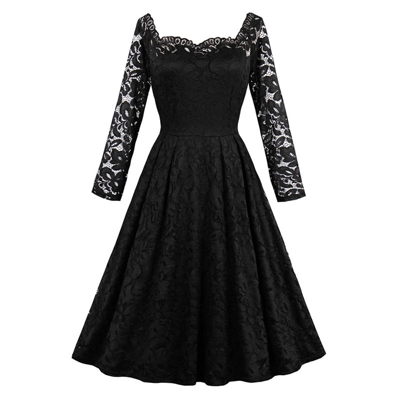 Sisjuly 2017 Summer Zippers A Line Strapless Female Party Dress Solid Black Dresses Full Sleeve Knee Length Sexy Club Dresses