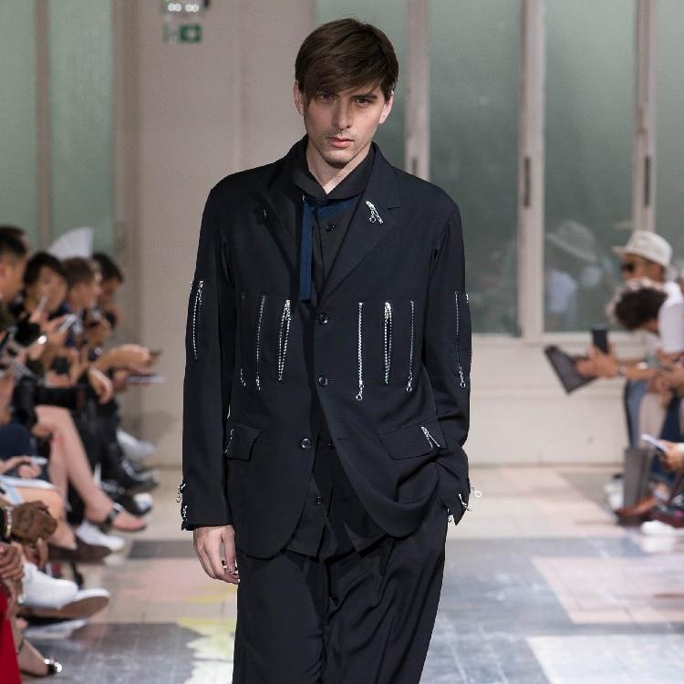 M-6XL!Large Size, High Quality Men's Wear 2019  Original Design And Custom Show Zipper Complex Stitching Suit