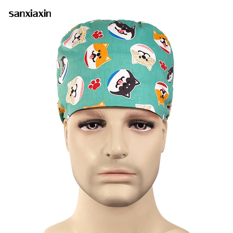Pharmacy Medical Supplies Surgical Hats Surgical Caps Women Surgical Cap Doctor Hat Nurse Uniform  Surgery Scrubs Surgery Cap