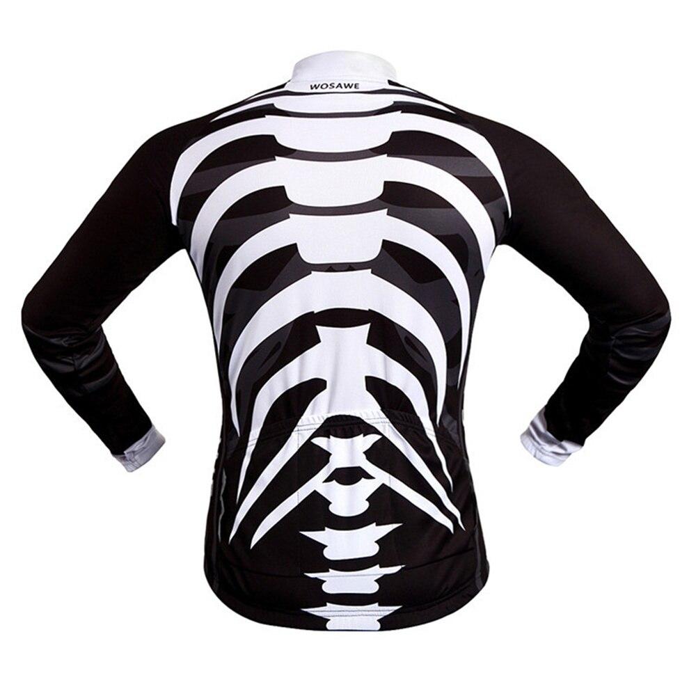 Wosawe hombres skeleton mujeres Camisetas de ciclismo ropa ...