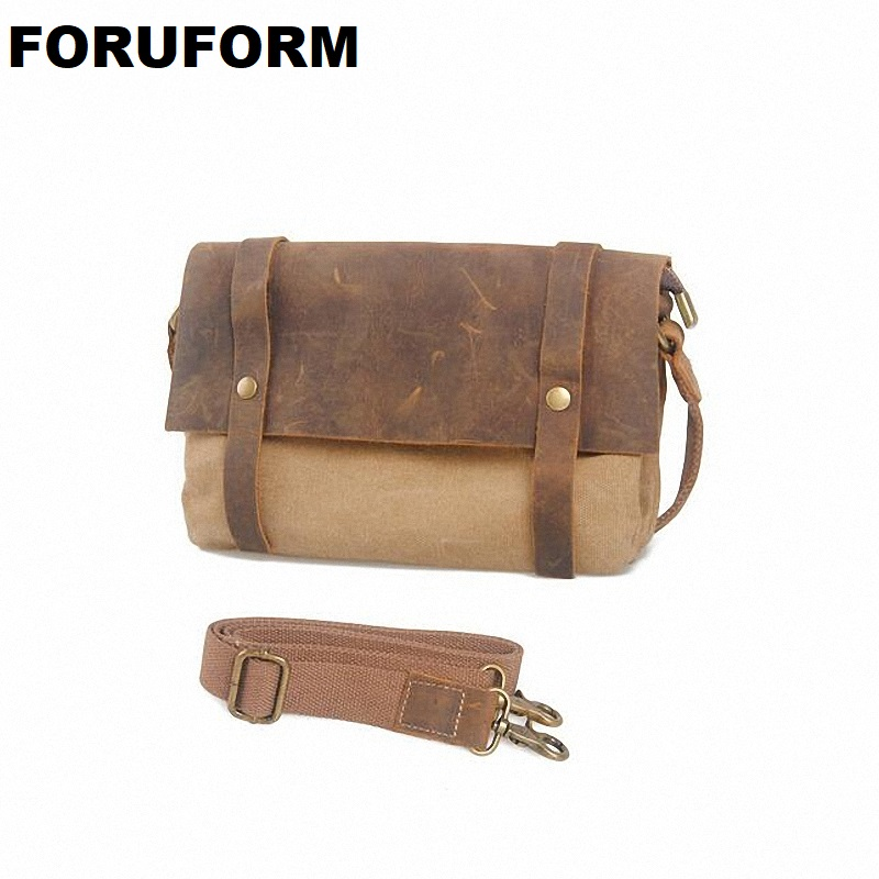 Hot Vintage Men's Travel Bags Small Men Messenger Bags Canvas Bag Man Cross Body Bags New Free Shipping LI-1046 new vintage men messenger bags casual multifunction small flap travel bags canvas shoulder crossbody black bags hot sale