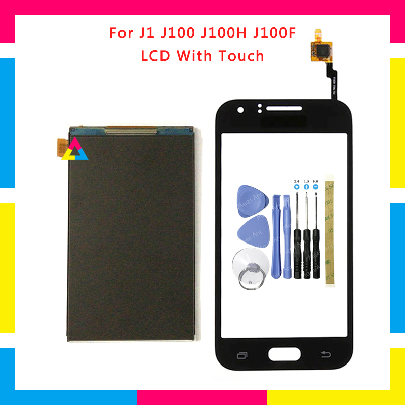 High Quality LCD <font><b>Display</b></font> With Touch Screen Digitizer Sensor Panel For <font><b>Samsung</b></font> Galaxy J1 J100 <font><b>J100H</b></font> J100F + Tools image