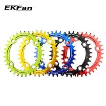 Новая велосипедная Звездочка EKFan 104BCD 32 T/34 T/36 T круглая овальная велосипедная Звездочка 7075-T6 MTB велосипедная круглая шатунная пластина