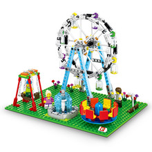 SEMBO City Street View Building Blocks Amusement Park in Ferris wheel Model kit Bricks Educational Toys for Children