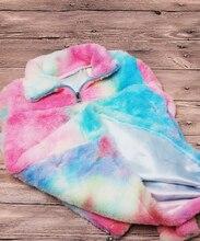 Mother and Daughter Rainbow Tie Dye Sherpa Sweatshirt