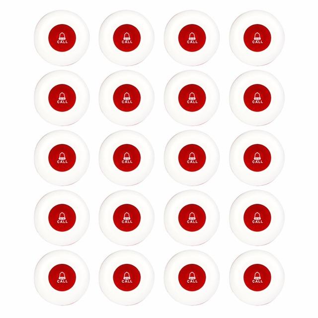 20 pcs Restaurante Pager 433 MHz Sistema de Chamada Sem Fio Garçom Chamada Botão do Transmissor Chamada Pager Restaurante Equipamentos F3250C