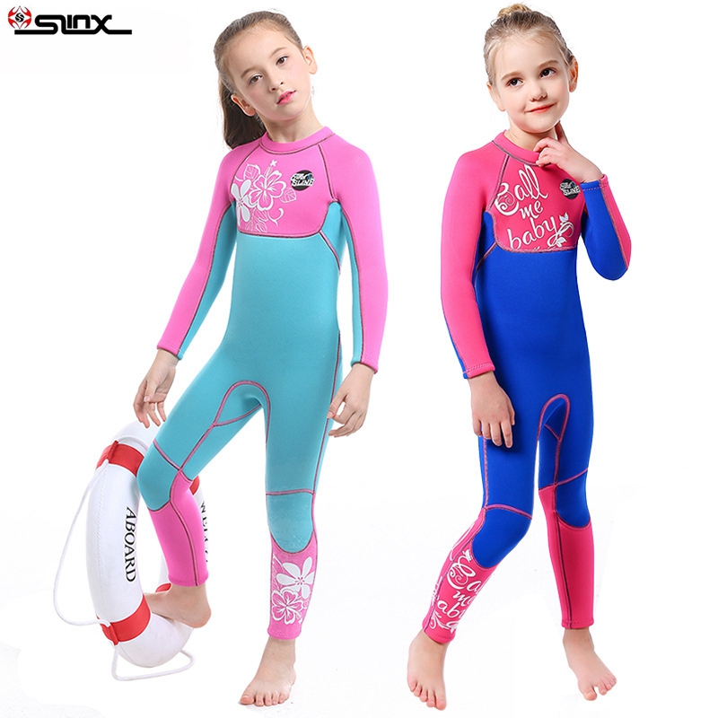 SLINX Kids Neoprene Swimsuit Wetsuits Children's Swimwear Long Sleeve High Elastic Diving Suits Snorkeling Surfing Rash Guards-in Wetsuit from Sports & Entertainment    3