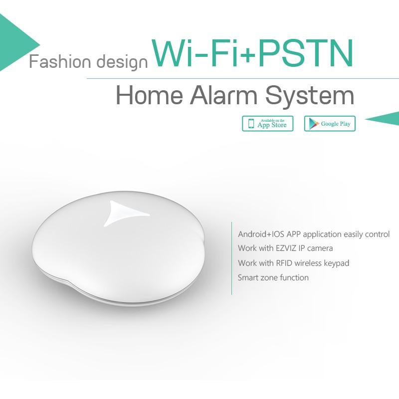 433mhz smart home security Wifi/PSTN alarm system with 4pcs water flood detector sensor wireless vibration break breakage glass sensor detector 433mhz for alarm system