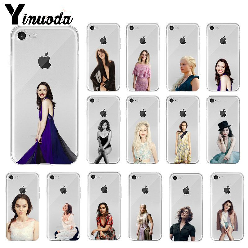 Yinuoda Game Of Thrones Daenerys Targaryen Emilia Clarke TPU Soft Phone Case For IPhone 8 7 6 6S Plus X XS MAX 5 5S SE XR Cover